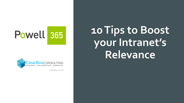 Ten tips to boost your intranet's relevance