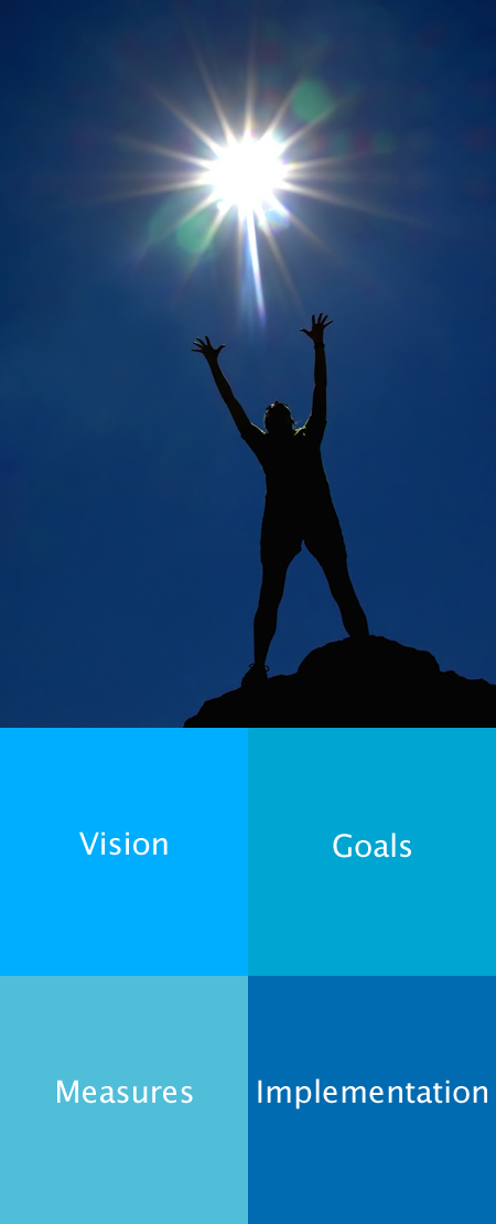 Sun and strategy - Vision - Goals - Measures - Implementation