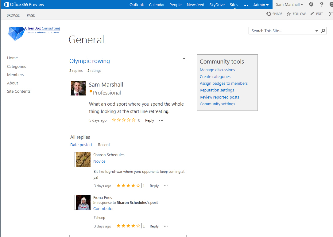 SharePoint 2013 Social Features – ClearBox Consulting