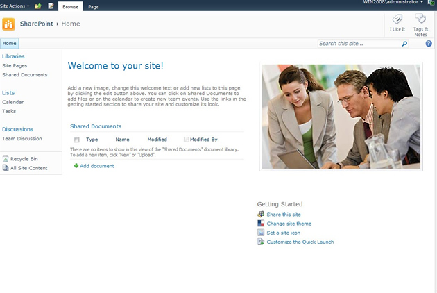 SharePoint 2010 Team Site
