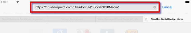 Edit the URL in Safari