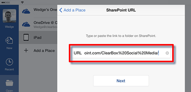 Edit the URL from Safari