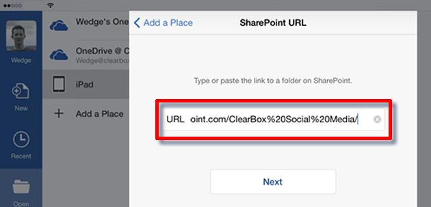Edit the URL from Safari