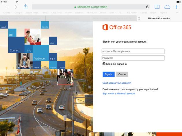 Office 365 Safari