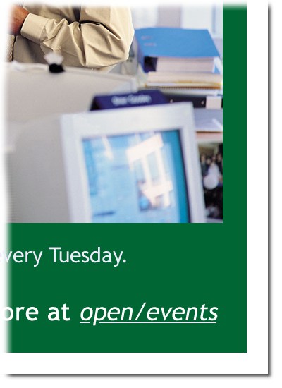 Poster corner, showing short URL
