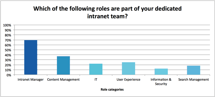 Deadicated intranet team roles