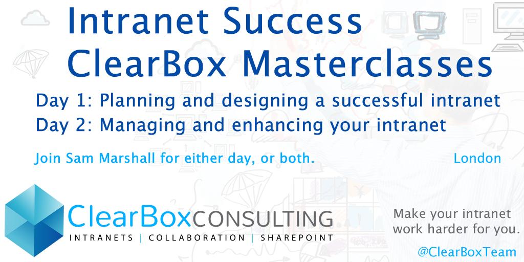 Intranet success masterclasses