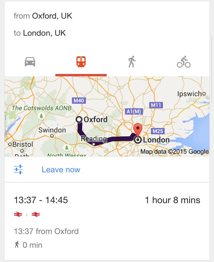 Google map card