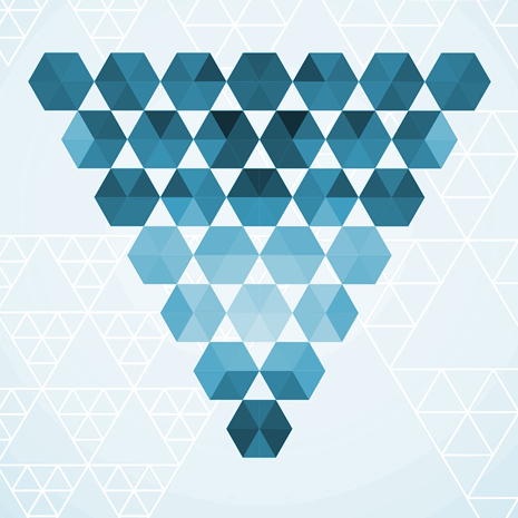 Triangle made up of hexagons