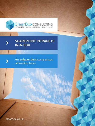 SharePoint intranets in-a-box report