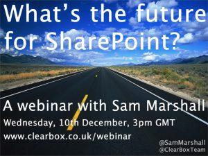Future of SharePoint webinar