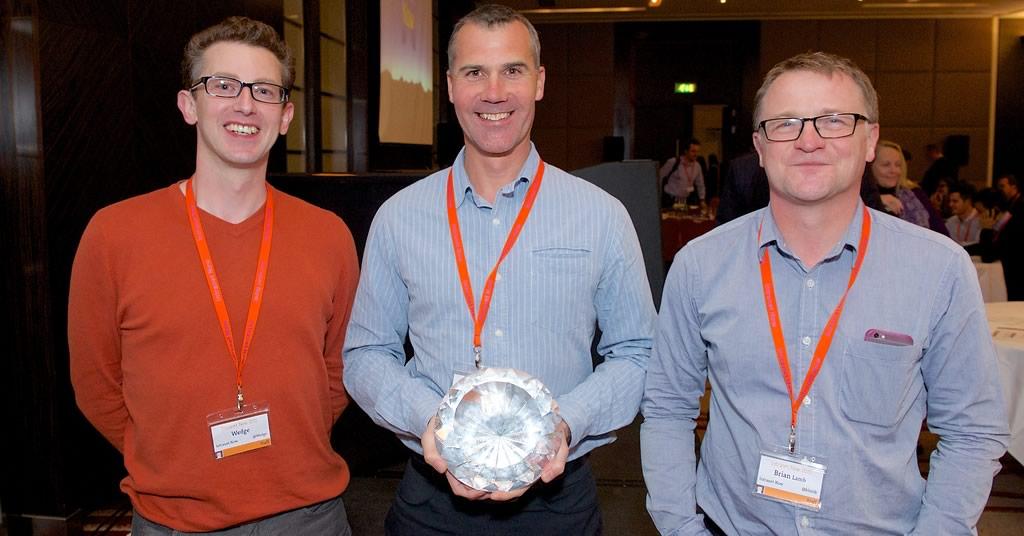 Wedge, Sam, Brian and the Diamond Award