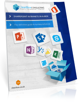 SharePoint intranets in-a-box report booklet cover