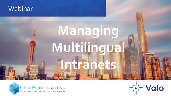 Managing multilingual intranets