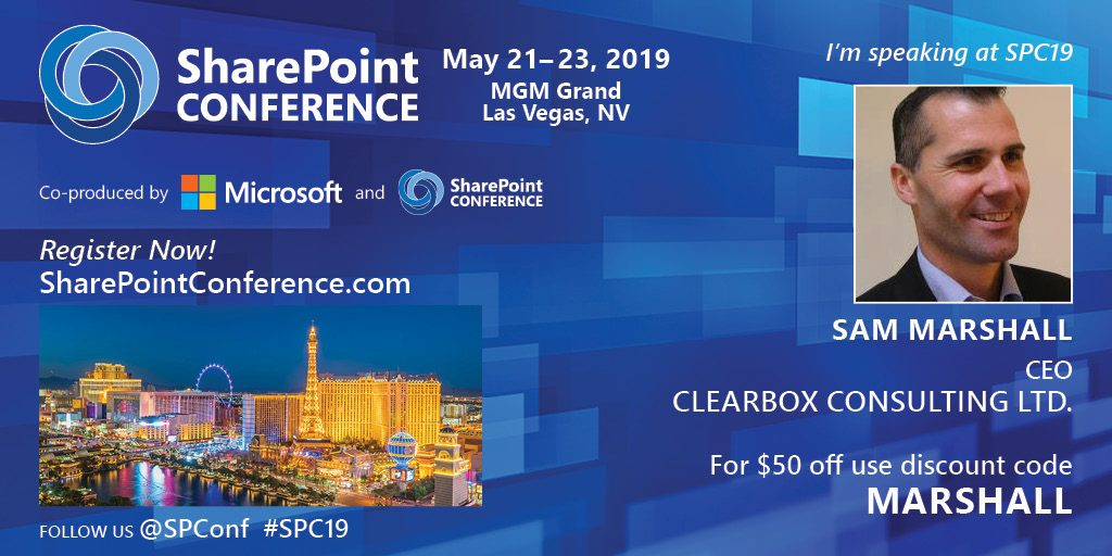 SharePoint Conference 2019.