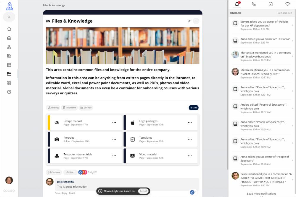 Colibo, knowledge page.