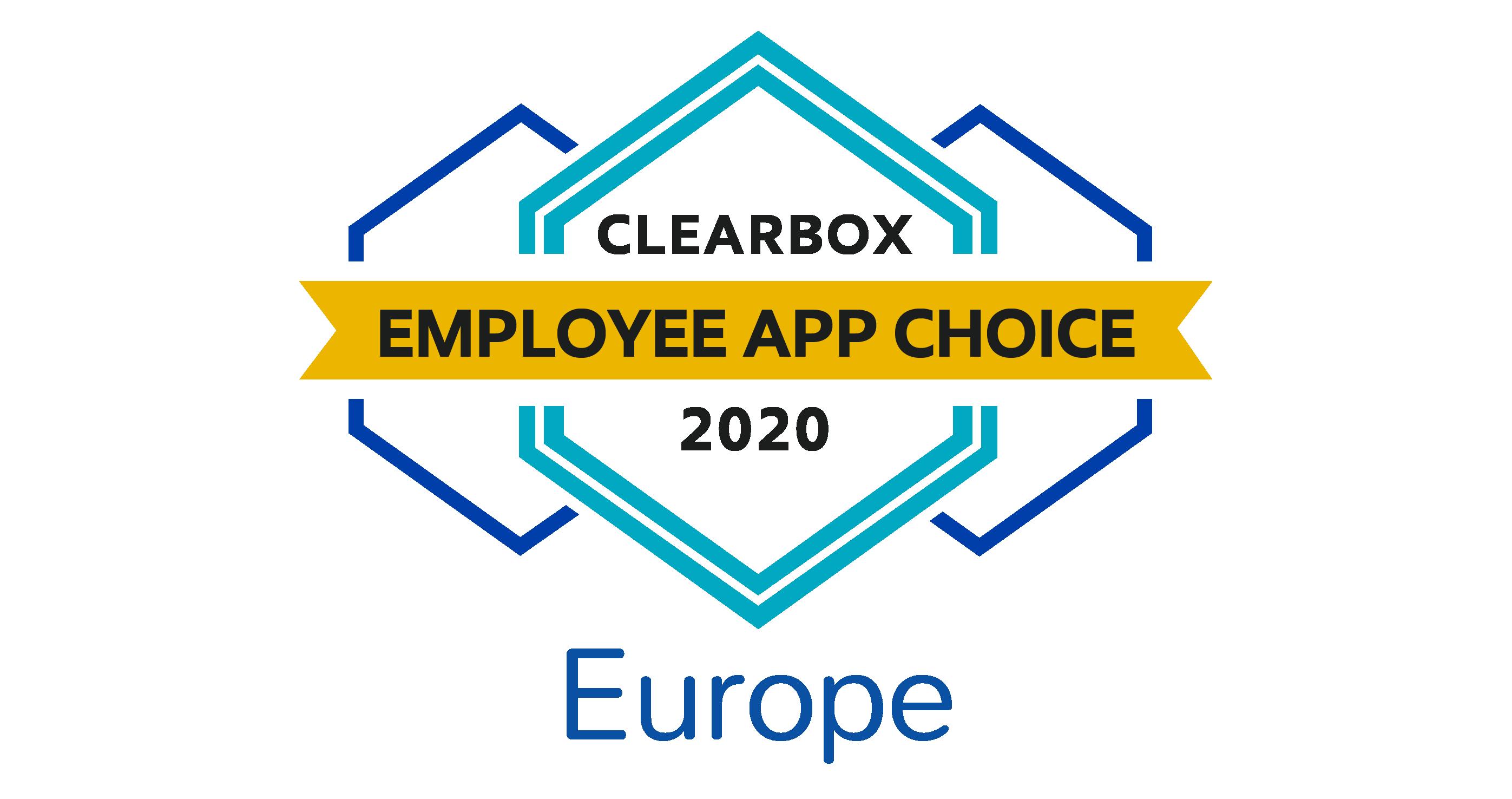 Employee app choice Europe 2020.