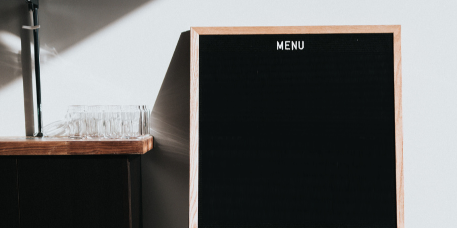 An empty cafe menu.