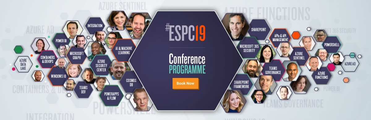 ESPC19 European SharePoint Conference.
