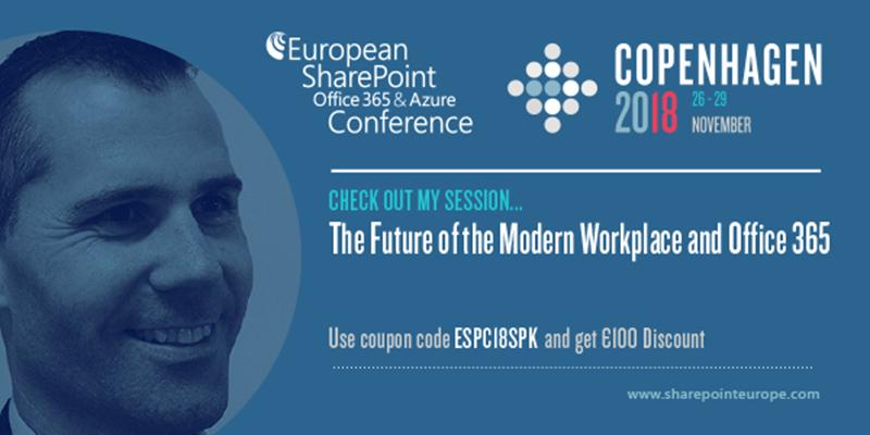 European SharePoint Conference - Sam Marshall.