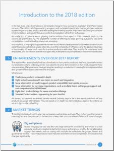 Executive summary page