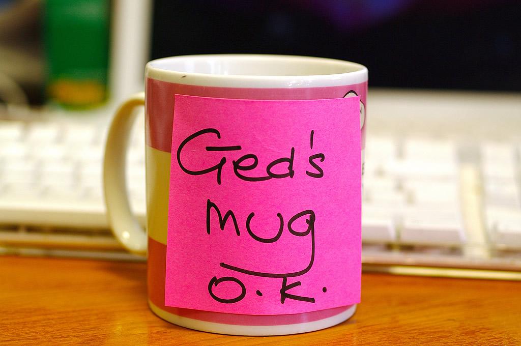 Ged's mug OK