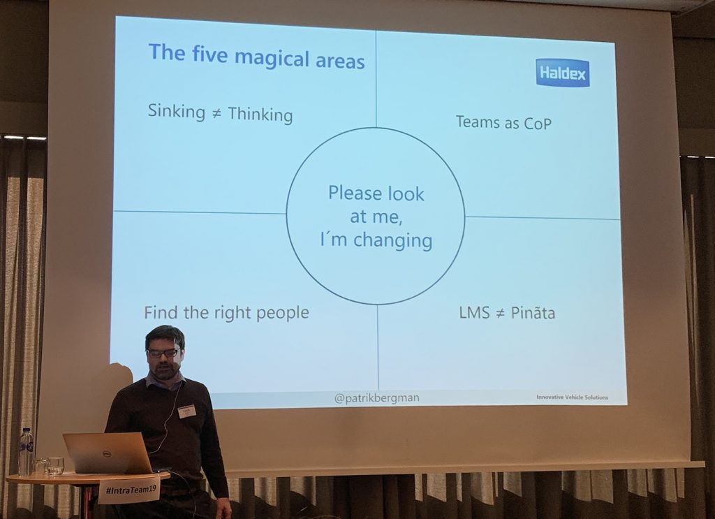 Patrik Bergma and the 5 areas of a learning organisation.