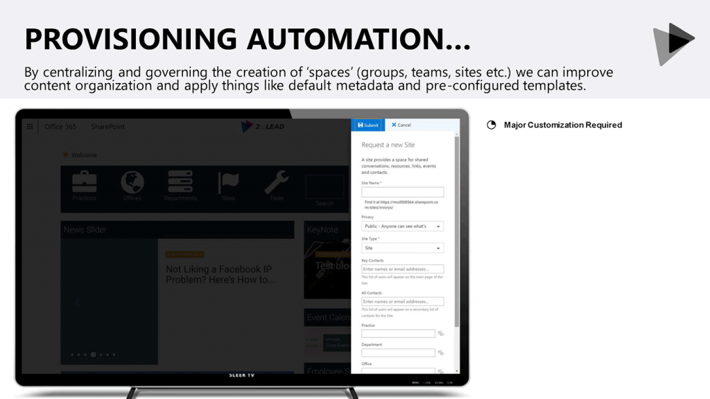 Site provisioning automation.