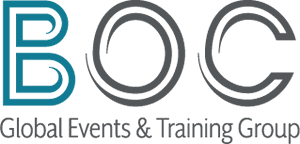 Logo: BOC Global events and training group.