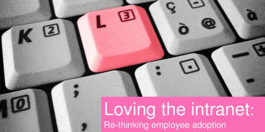 Re-thinking employee adoption.