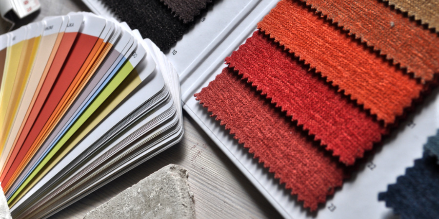 Colour swatches.