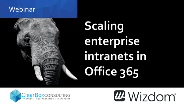 Scaling enterprise intranets in Office 365.