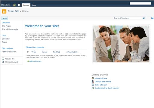 SharePoint 2010 Team Site