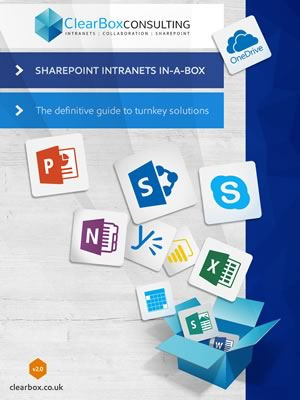Clearbox SharePoint intranet in a box report 2016