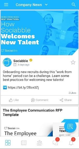 Sociabble employee app.