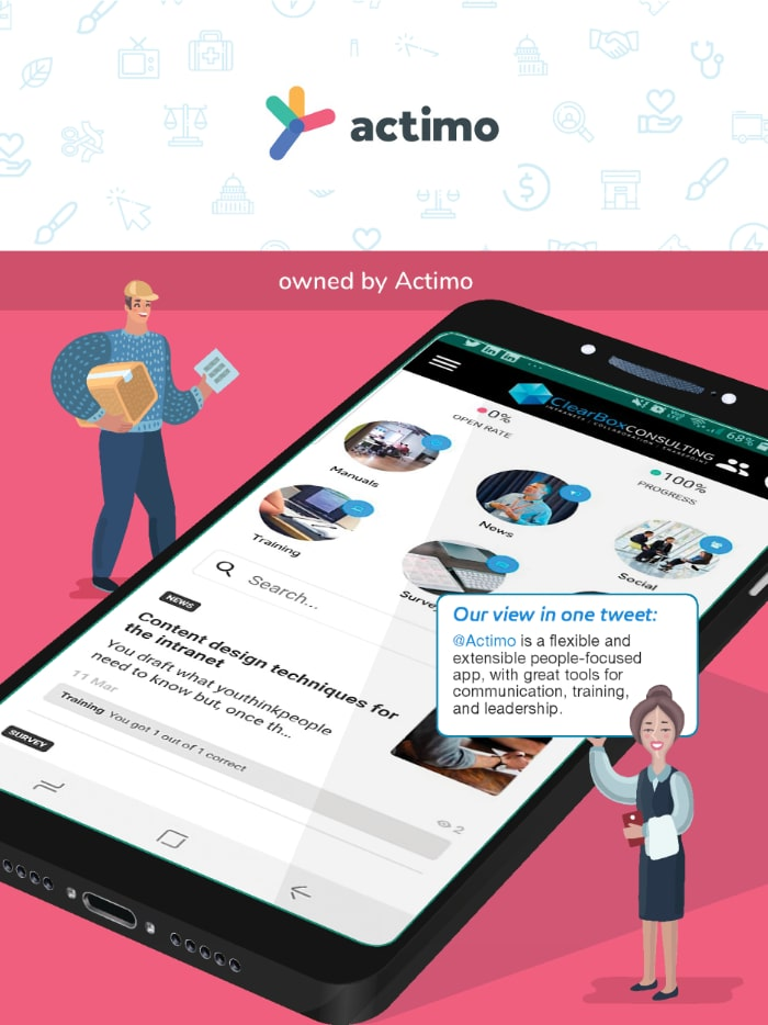 Actimo employee app in the ClearBox report.