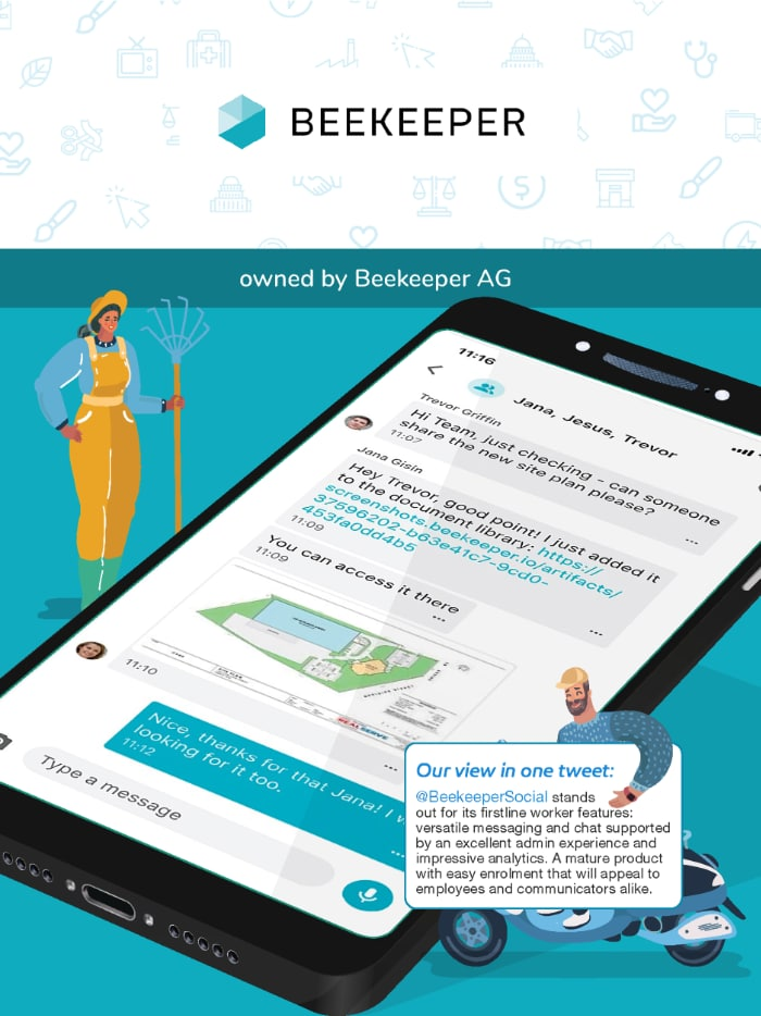 Beekeeper employee app in the ClearBox report.
