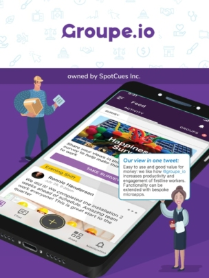 Groupe.io employee app in the ClearBox report.
