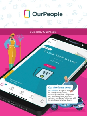 OurPeople employee app in the ClearBox report.