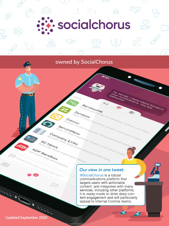 Social Chorus employee app in the ClearBox report.