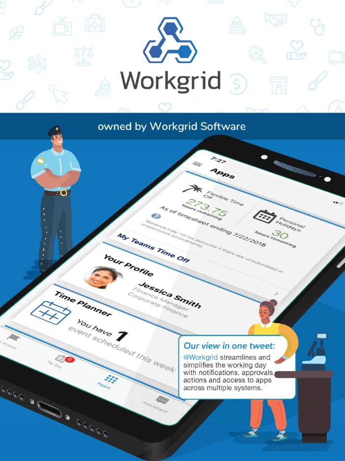 Workgrid employee app in the ClearBox report.
