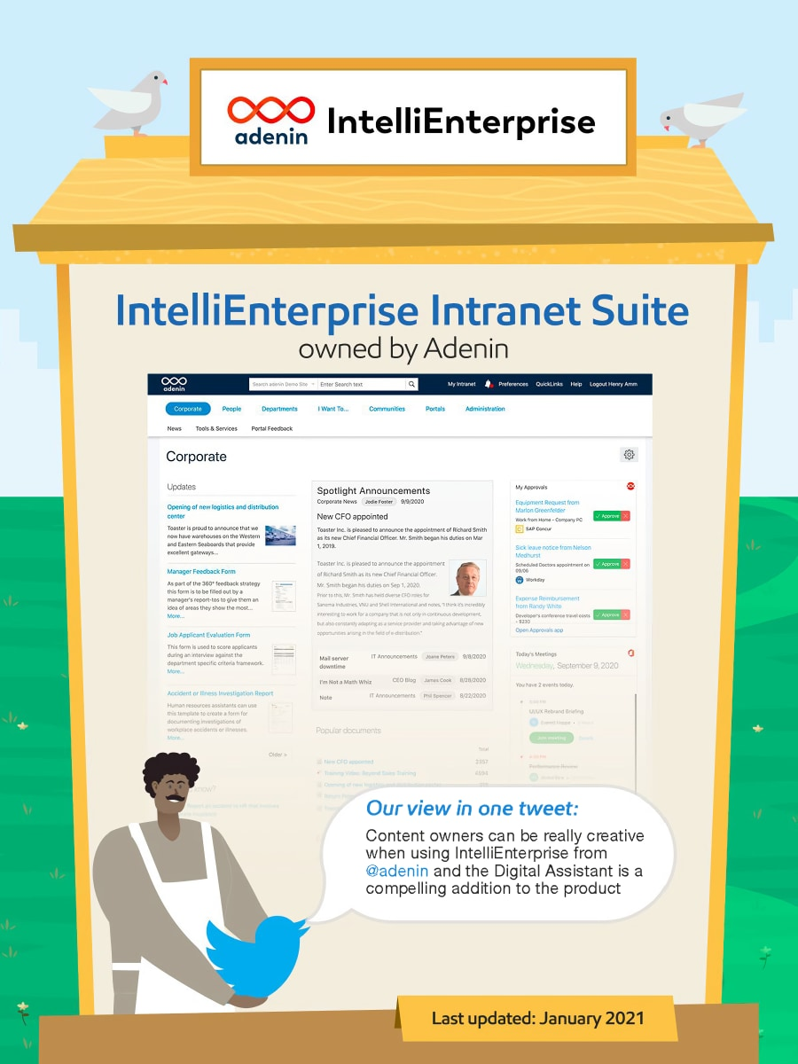 IntelliEnterprise intranet.