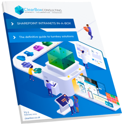 SharePoint intranets in-a-box cover.