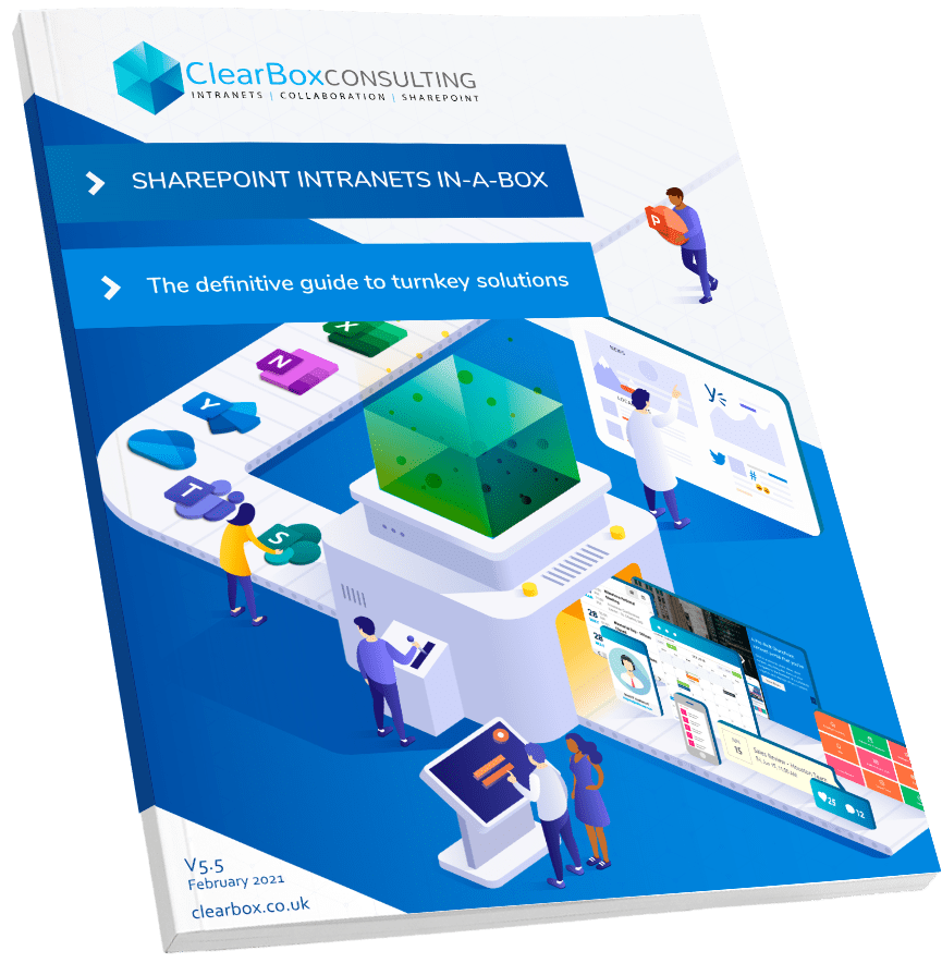 Cover: SharePoint intranets in-a-box report