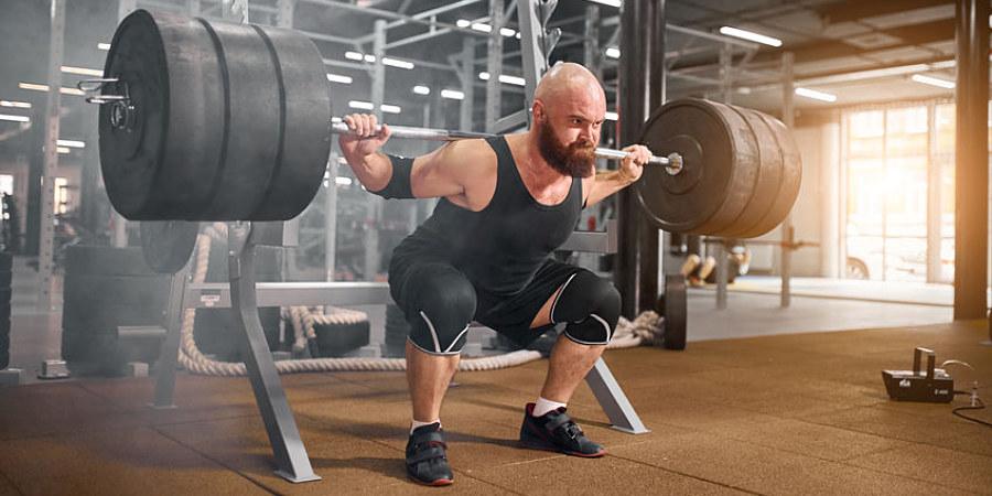 Squat lift, heavy barbell!