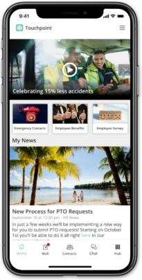Staffbase mobile employee app.