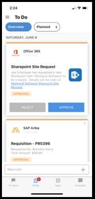 Workgrid employee app.